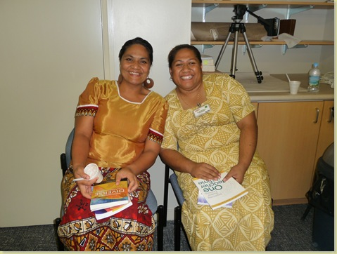 One principal of Ha'apai and Lavenia Taufalele  on the right is our principal in Havelu Middle School on Tongatapu