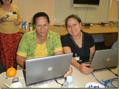 Linda and Lutimela our principal at Pakilau Middle School