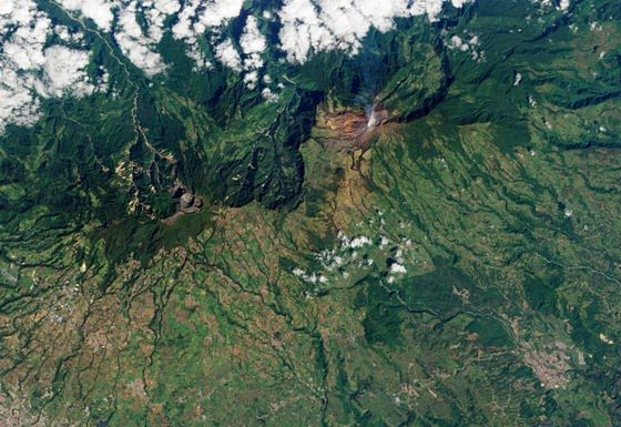 Volcan Turrialba Costa Rica From Space 2