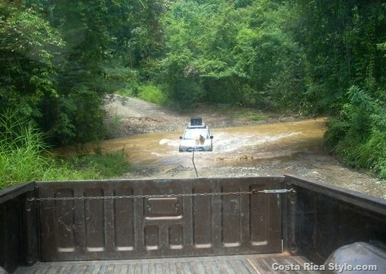 Costa Rica Driving River Crossing 2
