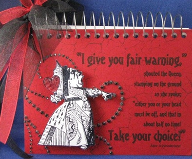 2010 04 LRoberts Classically Alice Fair Warning Notebook
