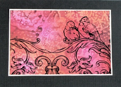 2009 02 CnT Lynn Roberts Birds of a Feather Texture Plate Card