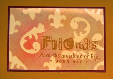 Lynn Roberts Friends Masking with Dies Card
