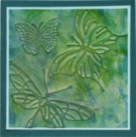 LRoberts Glo Butterflies Fanciful Wings Embossed Card