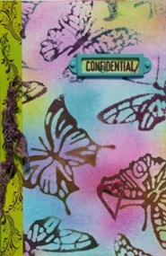 LRoberts Glo Butterflies Second Impressions Journal Cover