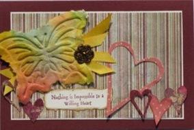 LRoberts Glo Butterflies Paper Casting Card