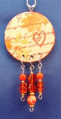 2011 02 LRoberts Exploring Image Transfers Beaded Heart Necklace