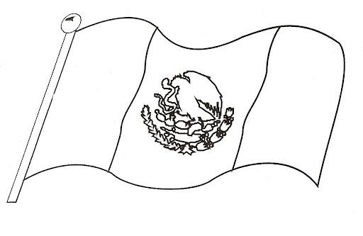 La Bandera De Mexico Para Colorear