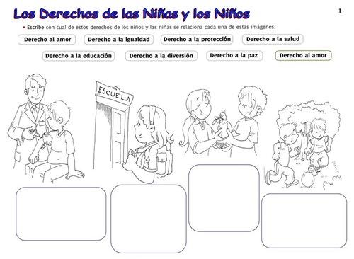 Láminas didácticas sobre los derechos del niño | Jugar y colorear