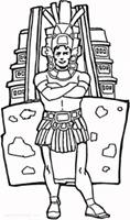 jugarycolorearman-aztec-coloring-page