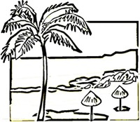 jugarycolorearOn-the-beach-of-Mexico-coloring-page