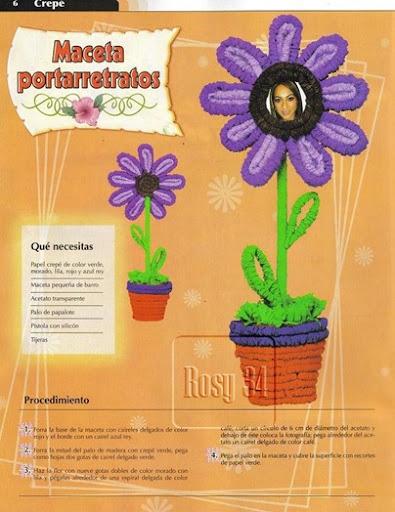 Manualidades día de la madre: Flores portarretratos | Jugar y colorear