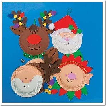 manualidades navidad hechas con platos de cartón blanco. Manualidades ...