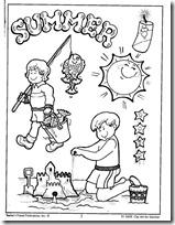 summer- verano, dibujos para colorear (1)