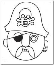 Mscaras de piratas para colorear