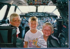 Brad, Shane & Matt in Concorde cockpit