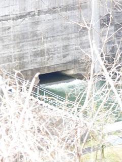 右岸より利水用法流設備(?)を望む