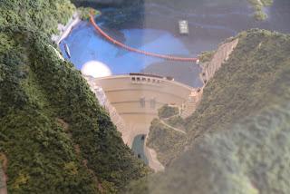 川治ダムを空撮