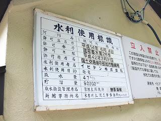 水利権使用標識