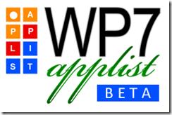 WP7 Applist