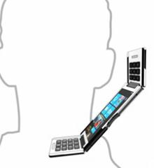 Tripple-flip-phone