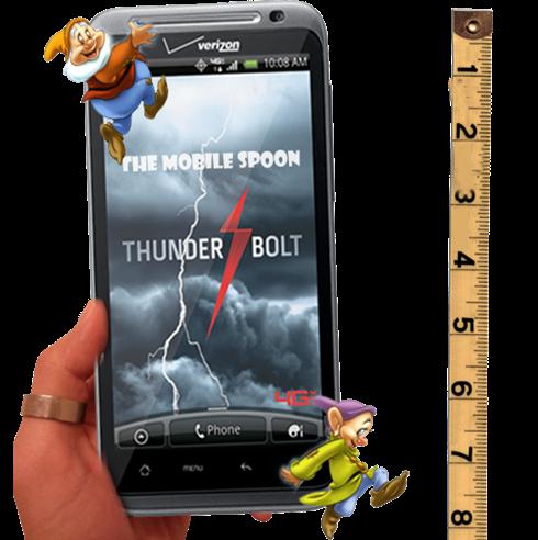 Giant-smartphone mobilespoon