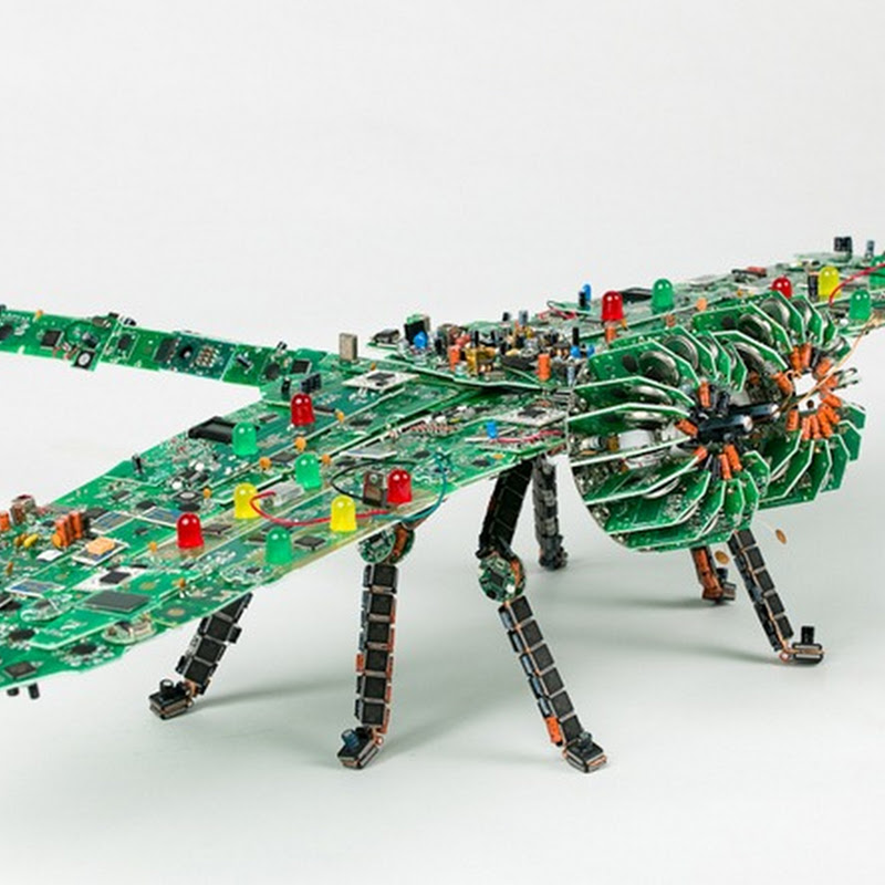 Brilliant Printed Circuit Board Sculptures by Steven Rodrig