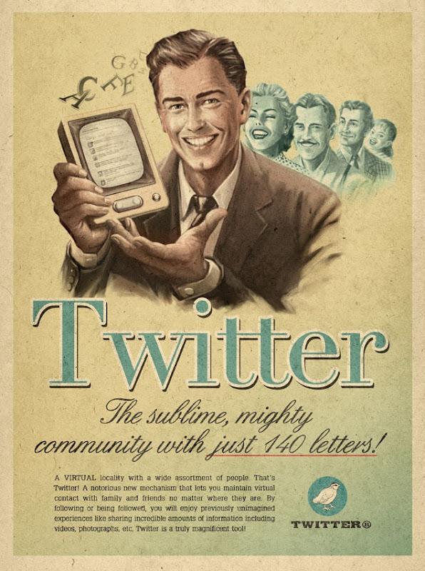 twitter-maximidia vintage internet ads