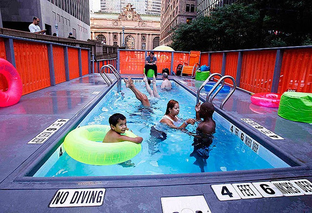 Garbage Dumpster Swimming Pools On The Streets Of New York Amusing Planet