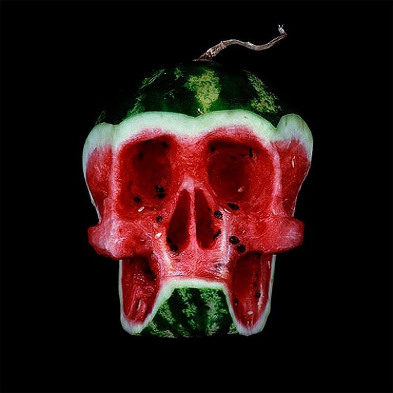Fruit Skulls by Dimitri Tsykalov