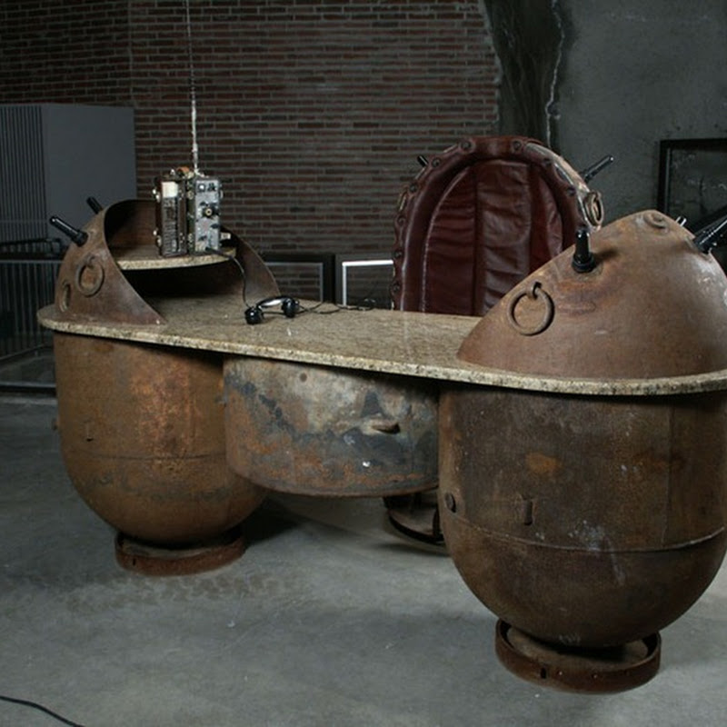 Furniture Made from Rusted Soviet Naval Mines