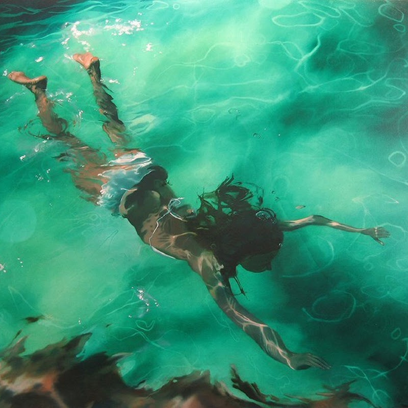 Beautiful Underwater Paintings by Sarah Harvey