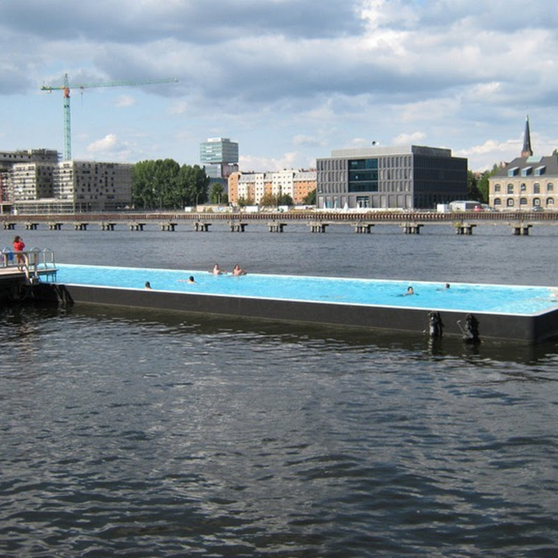 Badeschiff, the Floating Swimming Pool in Berlin