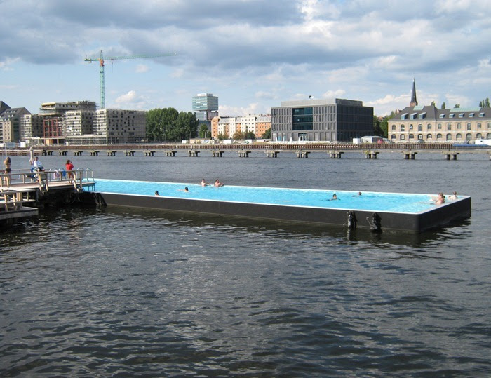 badeschiff the floating swimming pool in berlin amusing planet. Black Bedroom Furniture Sets. Home Design Ideas
