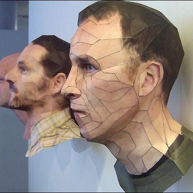 Teknik Membuat Patung Kertas Tiga Dimensi