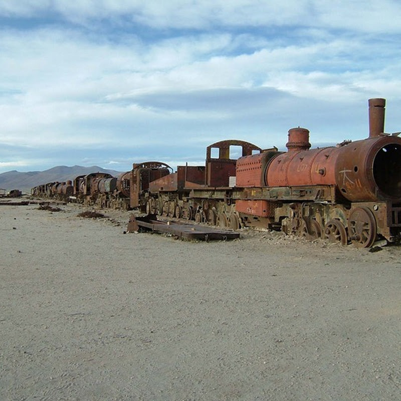 The Train Graveyard in Bolivia