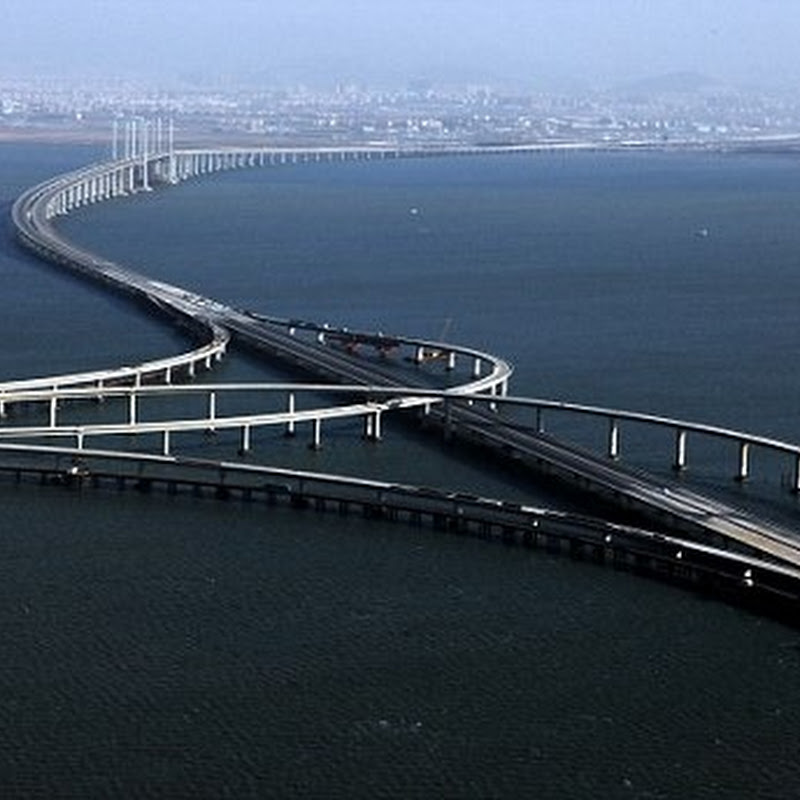 China Builds World's Longest Sea Bridge: The Qingdao Haiwan Bridge