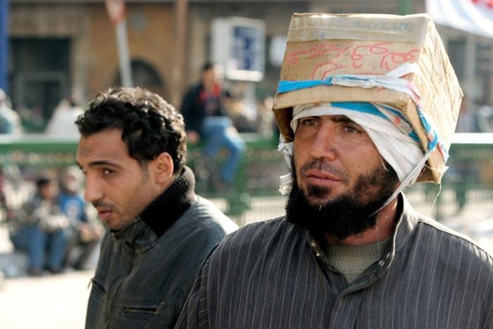 cardboard box helmet