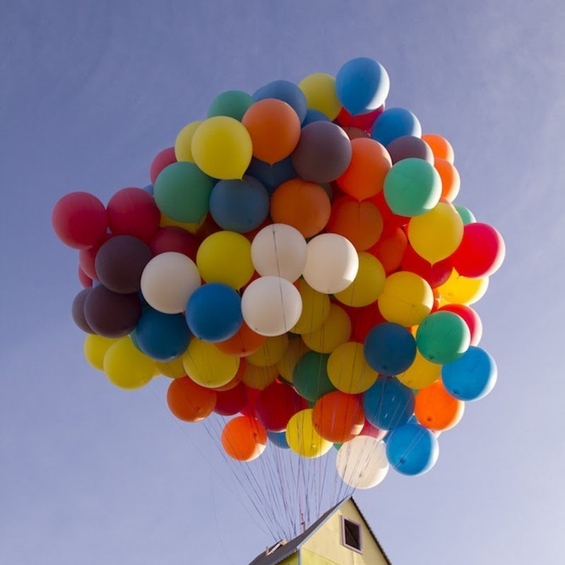 Floating House From Pixar Movie 'Up' Recreated in Real Life
