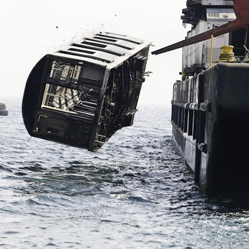 Subway Cars Dumped Into Sea To Make Artificial Reef