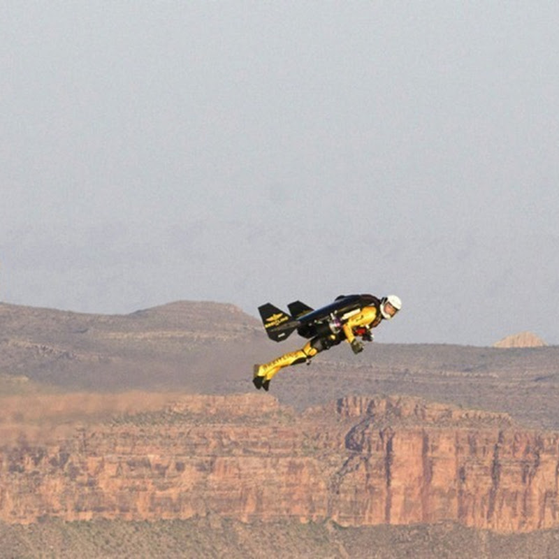 'Jetman' Yves Rossy Flies Over The Grand Canyon