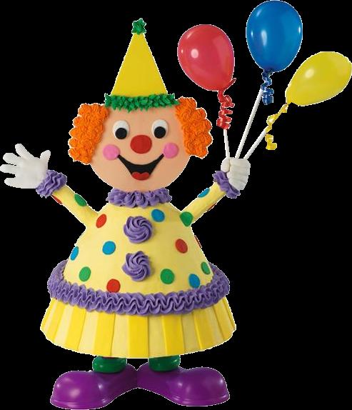 Desenho de boneco segurando balões bexigas feliz a