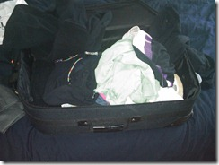 My sad excuse for packing so far.