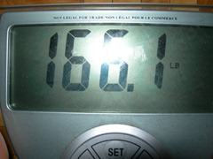 November 16th weigh in - 166.1lbs