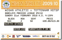 Wigan vs Spurs ticket