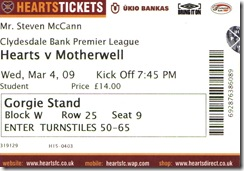 Hearts ticket