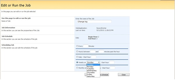6 Configuring Schedule Job in SharePoint 2007