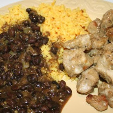 Gatorbek's Cuban Pork, Black Beans, and Yellow Rice