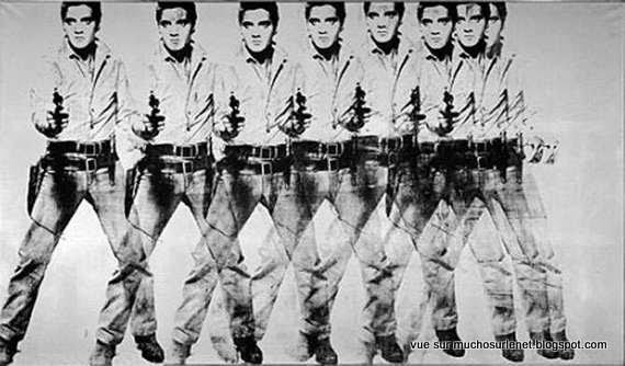 Huit Elvis de Andy Warhol