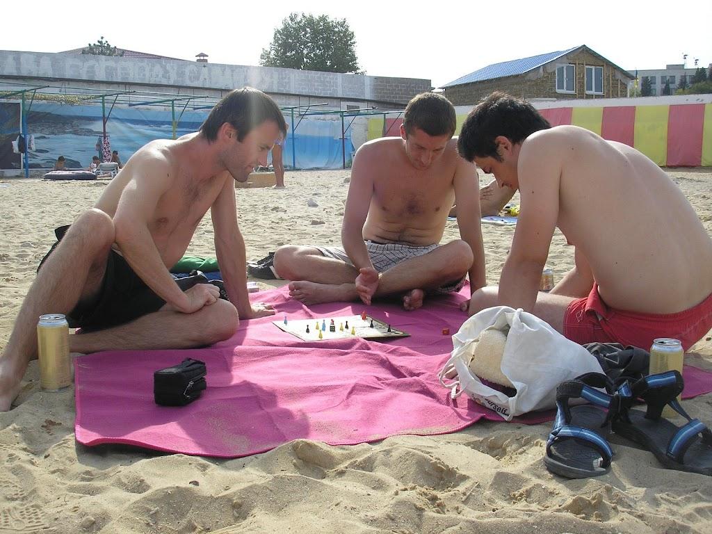 Na pláži v Sevastopole